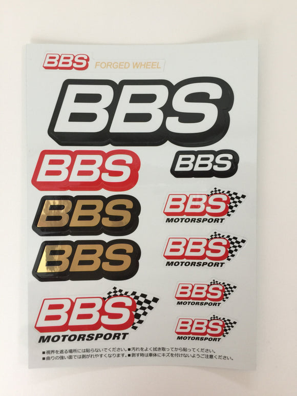 BBS Japan Stickers-BBS Wheels/Motorsports Sticker Sheet-JDM-Japan