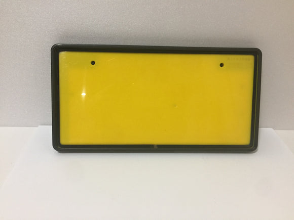 JDM Japanese License Plate Light Box LED Yellow Front View 3