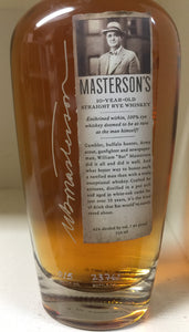 Masterson's Rye Whiskey 10 Year Old