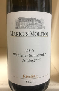 "2015 Markus Molitor ""Wehlener Sonnenuhr"" Auslese *** Gold Capsule Riesling"