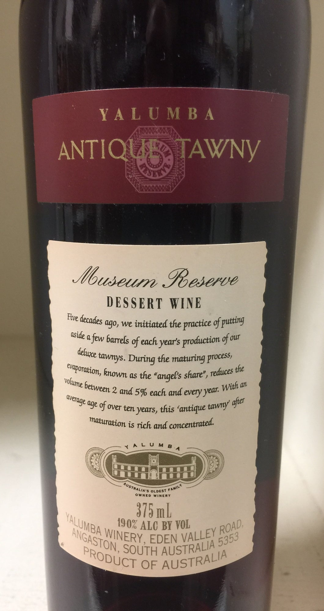 NV Yalumba Museum Reserve Antique Tawny