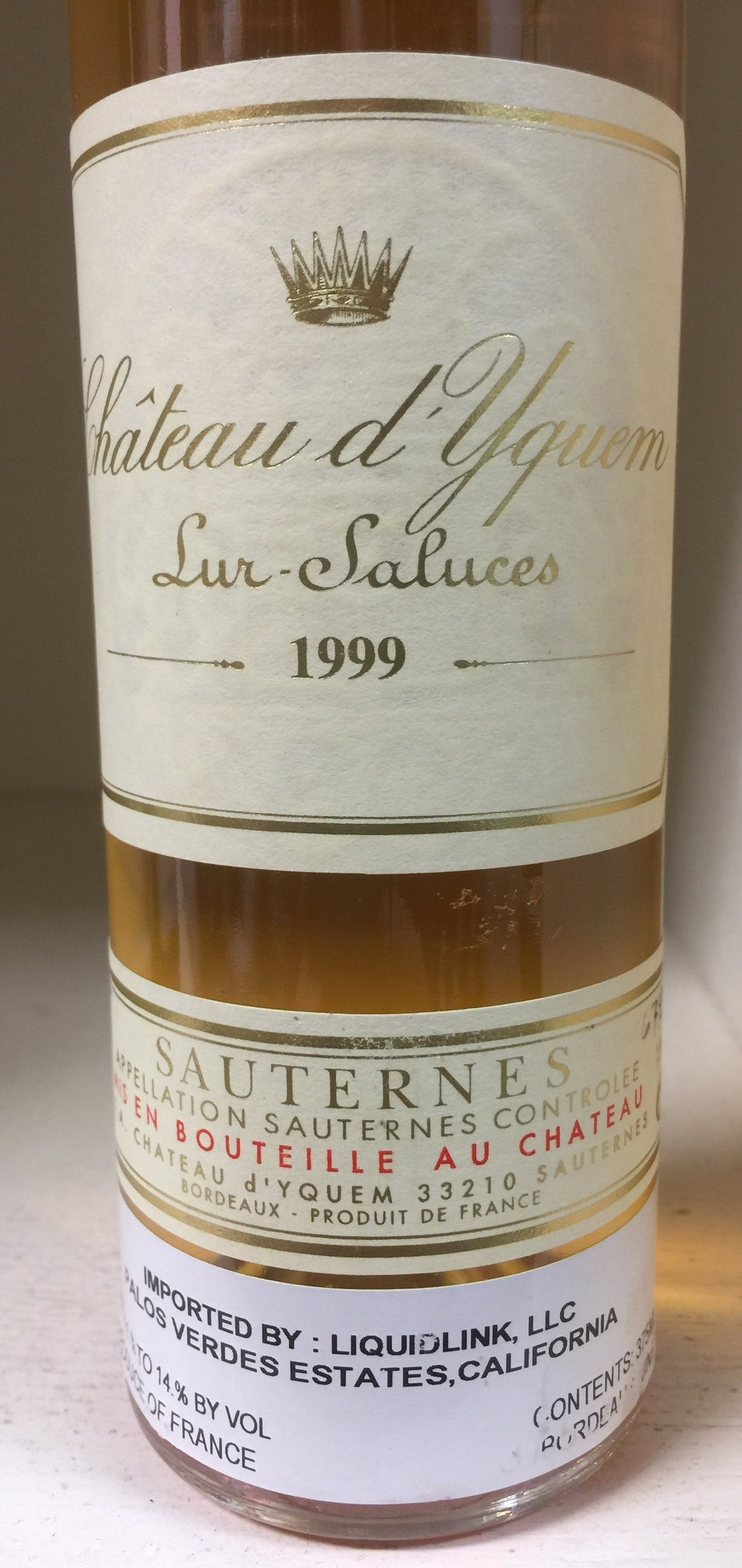1999 Chateau d'Yquem - HALF BOTTLE