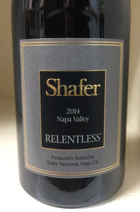 "2014 Shafer ""Relentless"" Syrah"