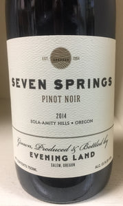 "2014 Evening Land ""Seven Springs"" Pinot Noir"