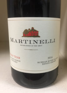 "2016 Martinelli ""Zio Tony Ranch"" Pinot Noir"