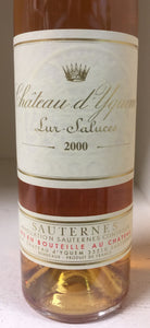 2000 Chateau d'Yquem -HALF BOTTLE