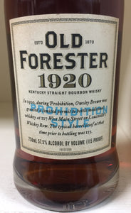 "Old Forester 1920 ""Prohibition Style"" Bourbon"