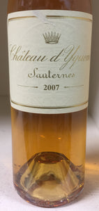 2007 Chateau d'Yquem -HALF BOTTLE