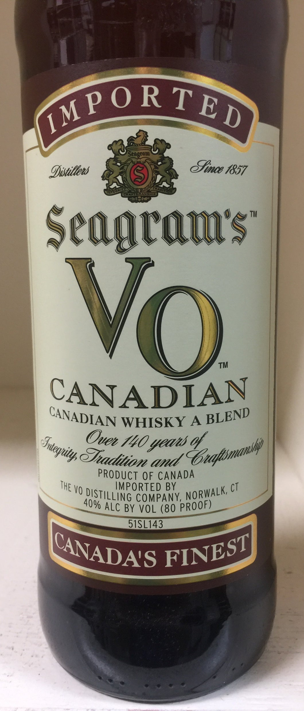 Seagrams' V.O. Canadian Whiskey
