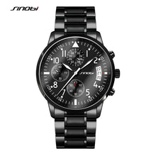 SINOBI 2017 Mens Watches Top Brand Luxury Business Stainless Steel Quartz Watch Male Sport Chronograph Clock Relogio Masculino