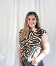 Load image into Gallery viewer, Silky Zebra Padded Tee