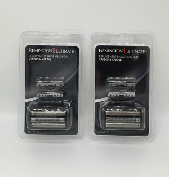 Two Remington Foil and Cutter sets to fit the Ultimate Foil Series F7 and F8 Shaver models (XF8505 & XF8705).