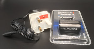 Remington F5800 charging lead plus a spare foil and cutter set