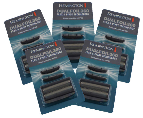 Remington F4790 foil and cutter sets (Five sets.) STAR BUY! Also fits model F3900.