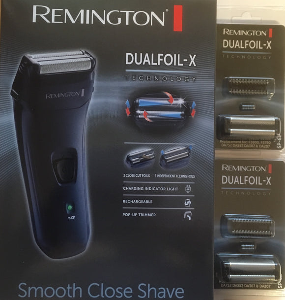 Remington F3805 Shaver plus two spare foil and cutter sets