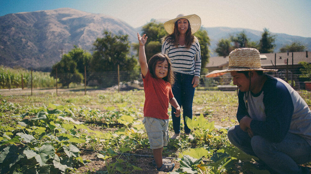 Mollie Engelhart of Sage: Plant Based Bistro & Brewery, and her family on Sow a Heart farm in Southern California.