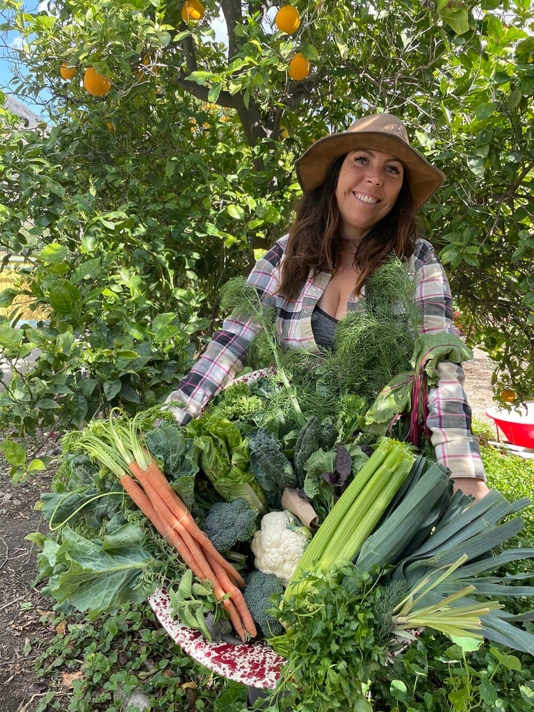 Mollie Engelhart of Sow a Heart Farm and Sage: Plant Based Bistro & Brewery, and locally grown organic produce in Southern California.