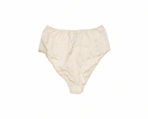 BLAM High-Waist Organic Silk Brief in Champagne