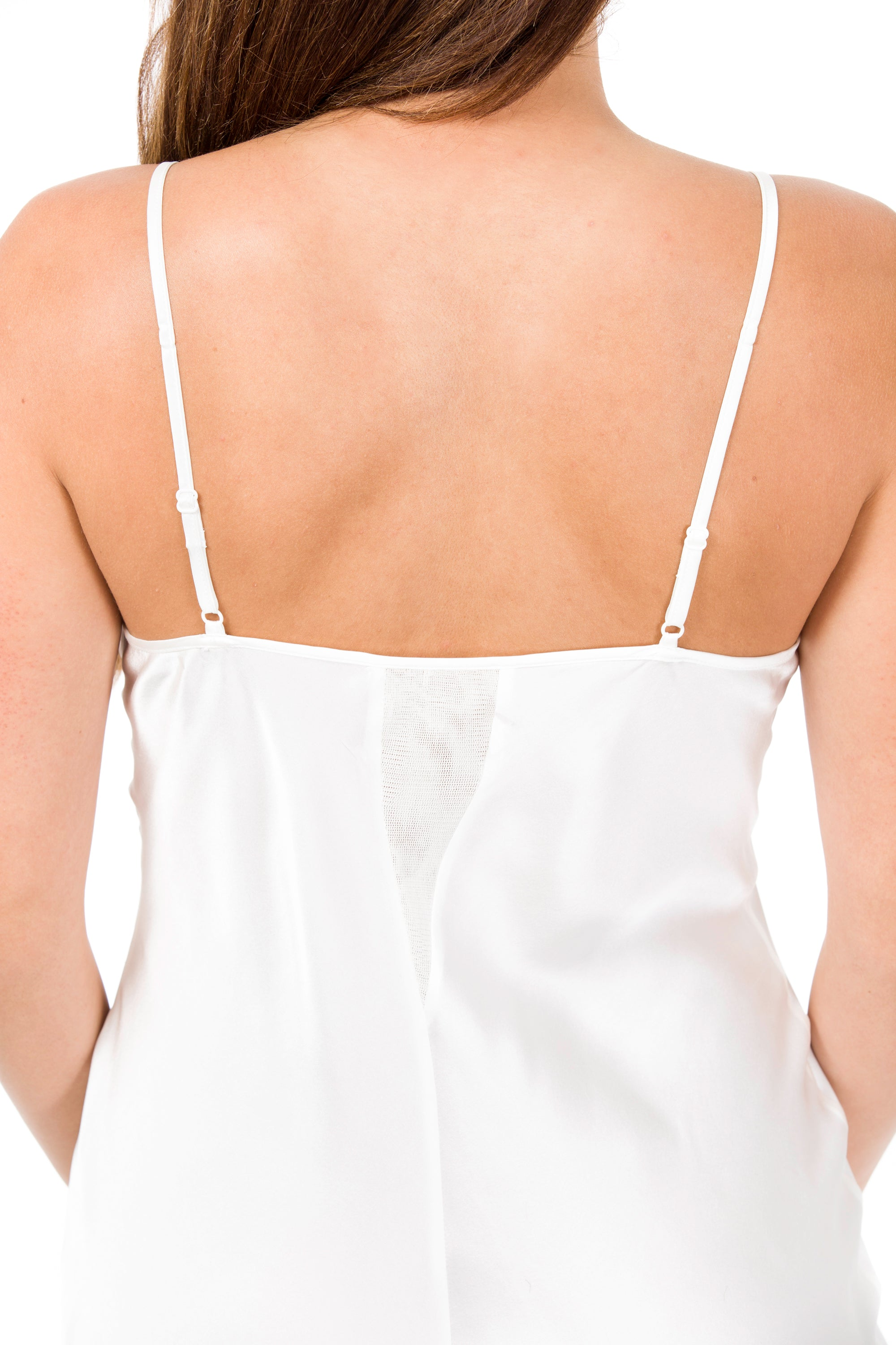 PLOW Organic Silk Slip in Raw White