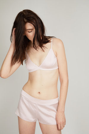 OH Organic Silk Tap Shorts in Winter Blush