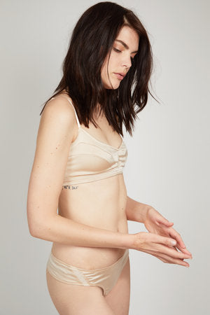 POP Organic Silk Soft Bra in Champagne