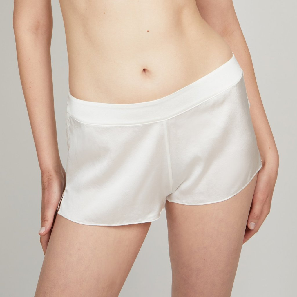 OH Organic Silk Shorts in Raw White