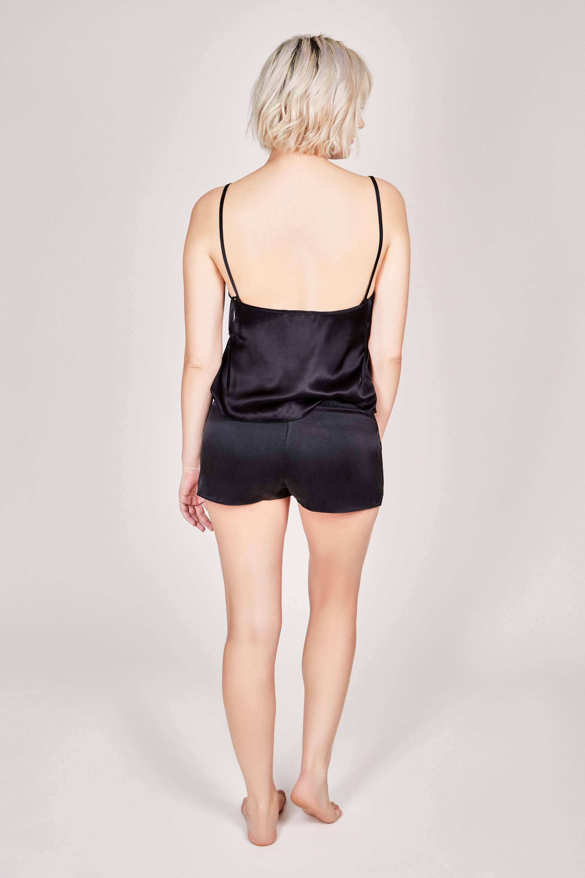 OH Organic Silk Shorts in Pitch Black