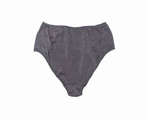 BLAM High-Waist Organic Silk Brief in Slate Self-Contrast