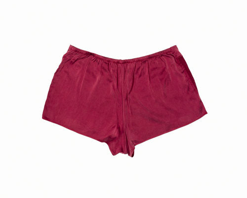 11688a6673669 OH Organic Silk Tap Shorts in Deep Claret Red – KENT under-apparel