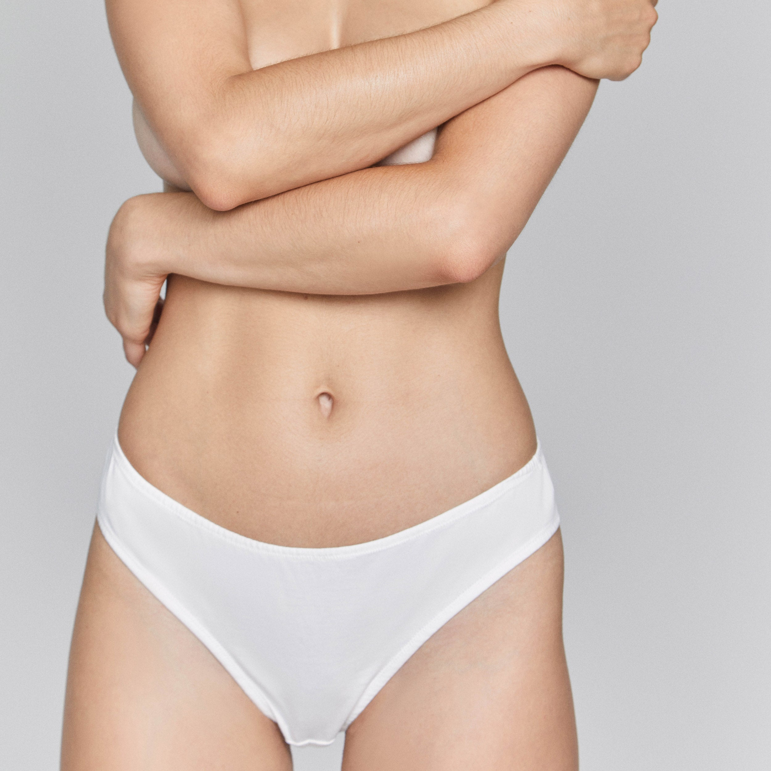 Organic Pima Cotton Bikini in Cloud