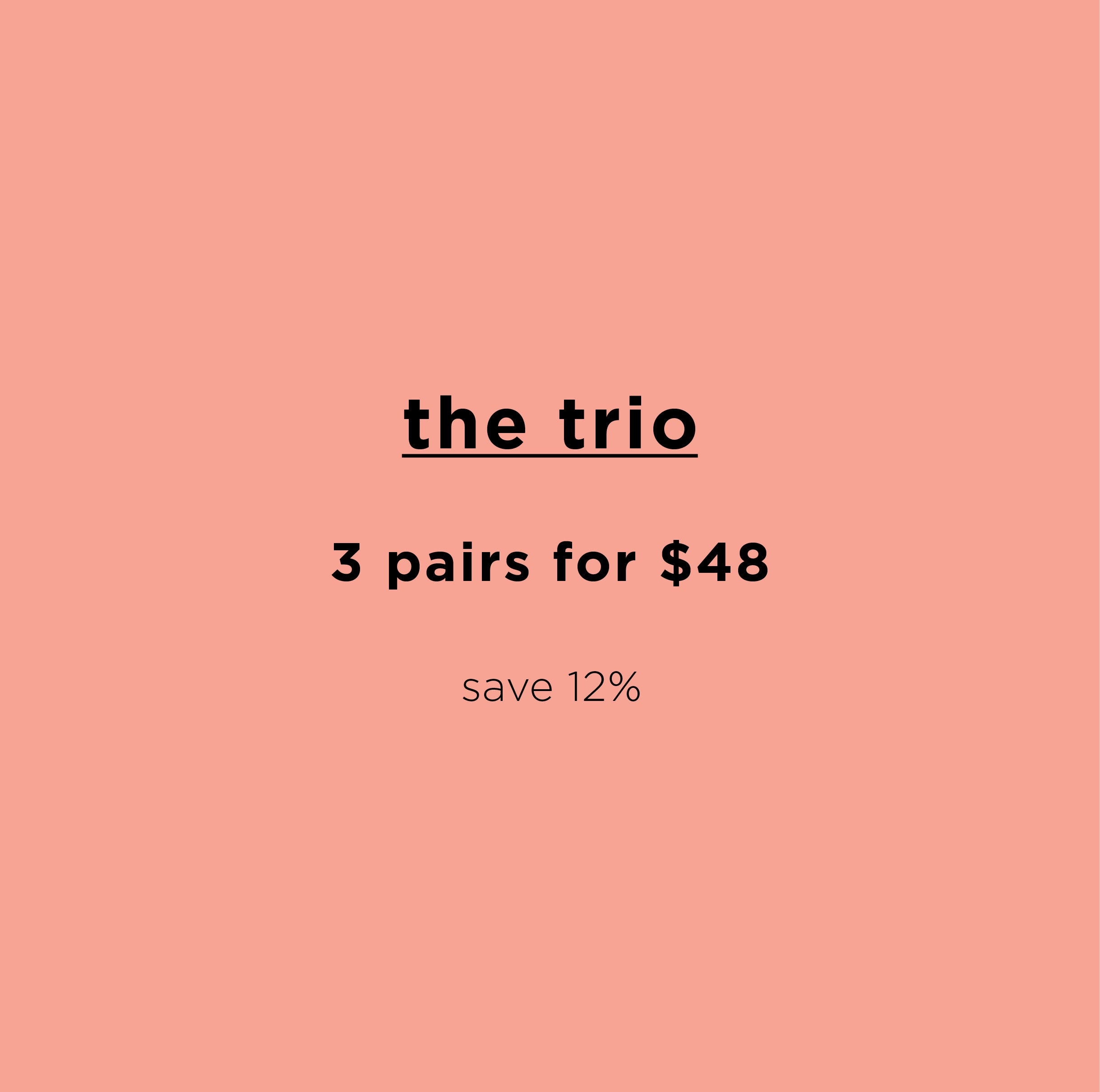 The Bikini Trio ~ 3 Organic Pima Cotton Briefs