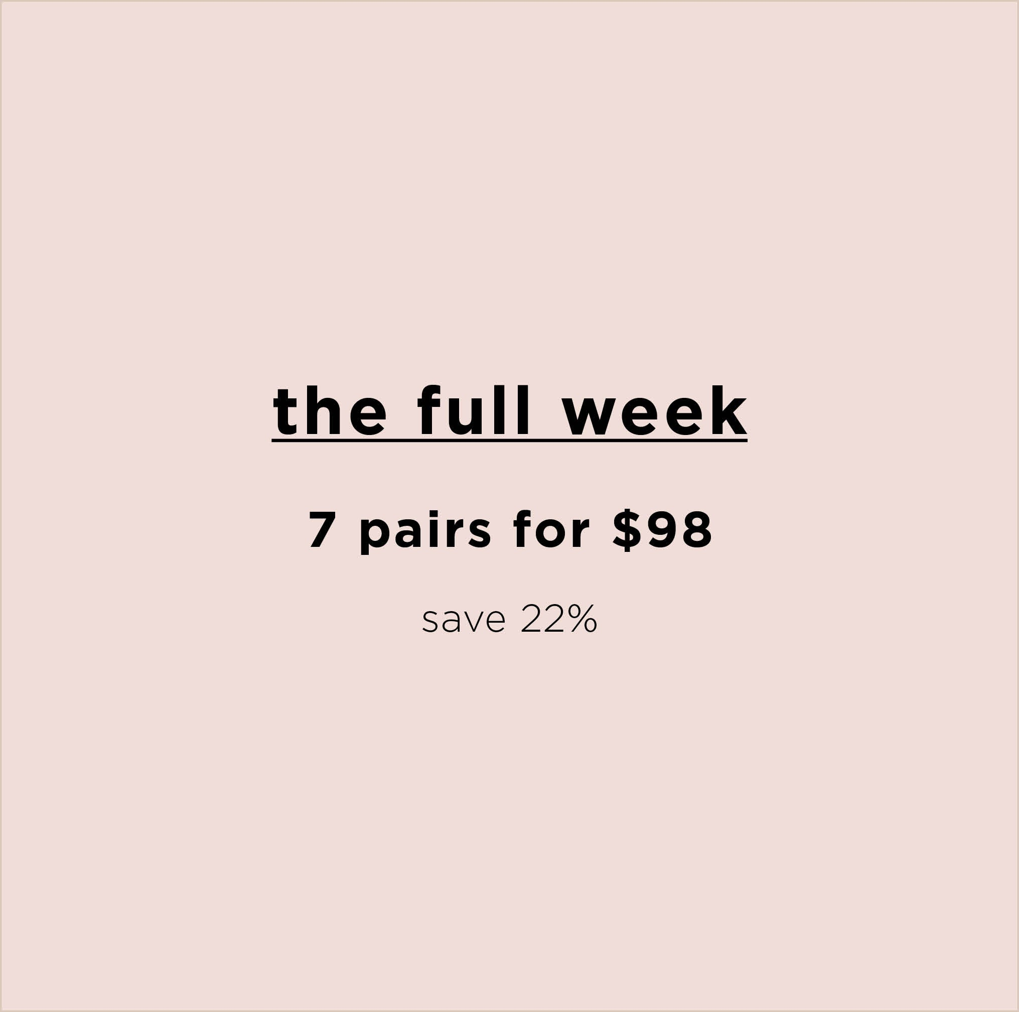 The Full Week ~ 7 Organic Pima Cotton Briefs