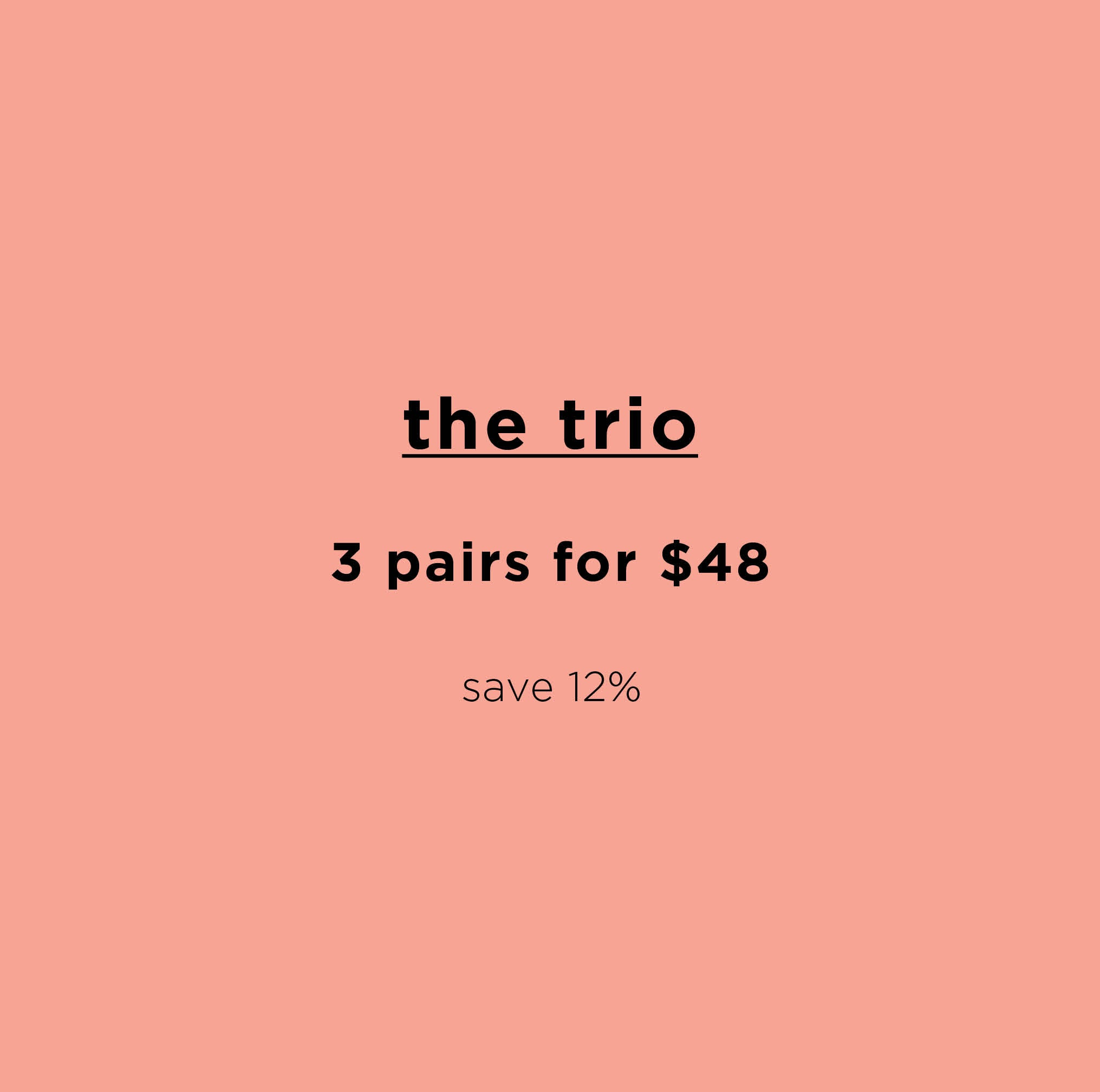 Thong Trio ~ 3 Organic Pima Cotton Thongs
