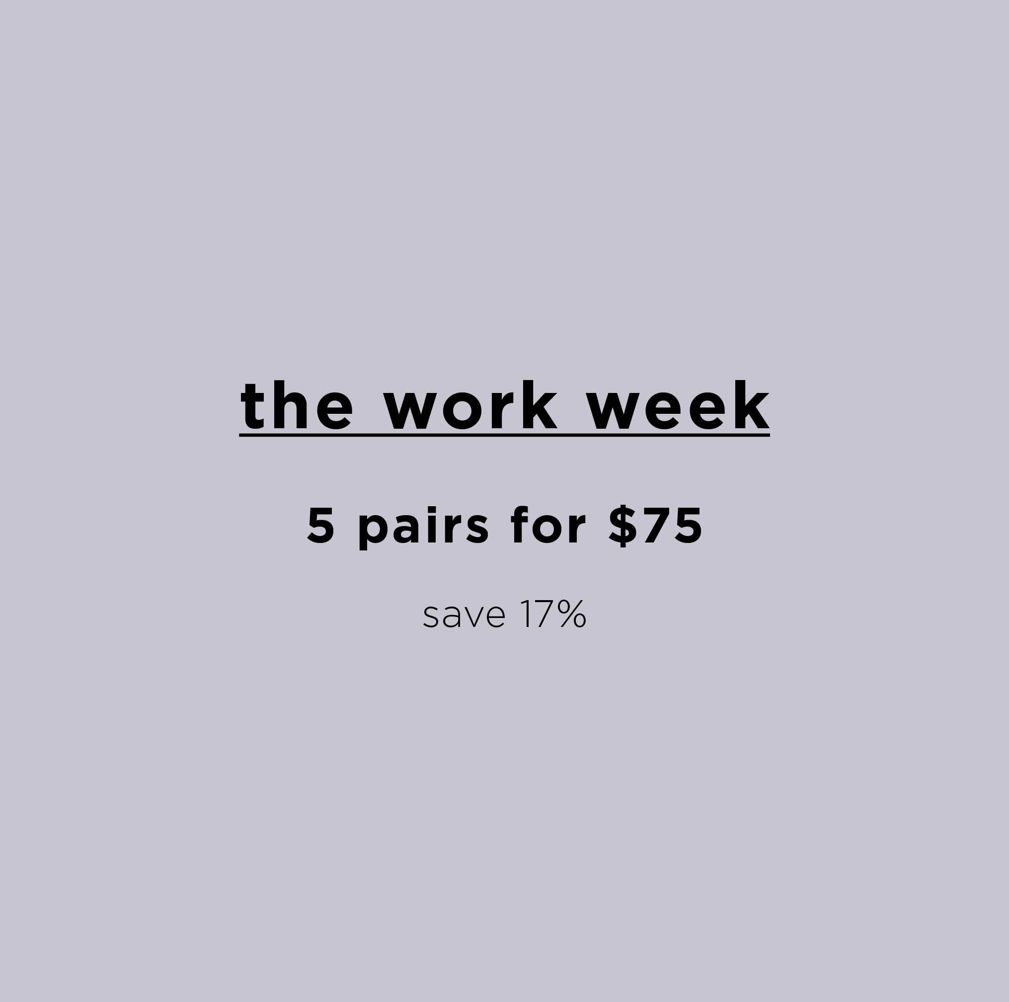 The Work Week - 5 Organic Cotton Briefs in Charcoal