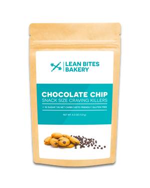 Lean Bites Bakery Mini Cookies – Chocolate Chip, Pack of 3, 4oz Bags