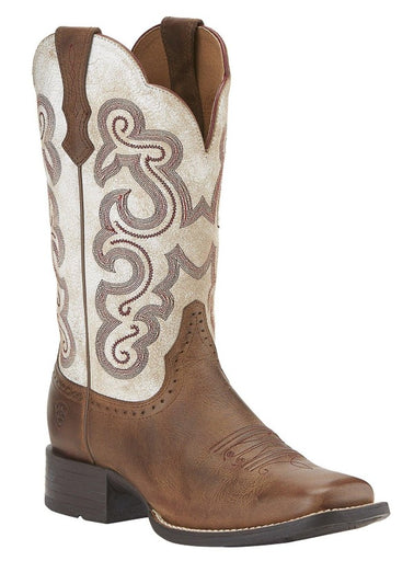 "Ariat Women's 11"" Quickdraw Sandstorm – Wide Square Toe boots ARIAT INTERNATIONAL, INC."