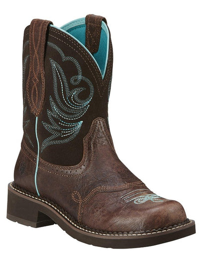 "Ariat Women's 8"" Fatbaby® Heritage Dapper Royal Chocolate – Square Toe boots ARIAT INTERNATIONAL, INC."