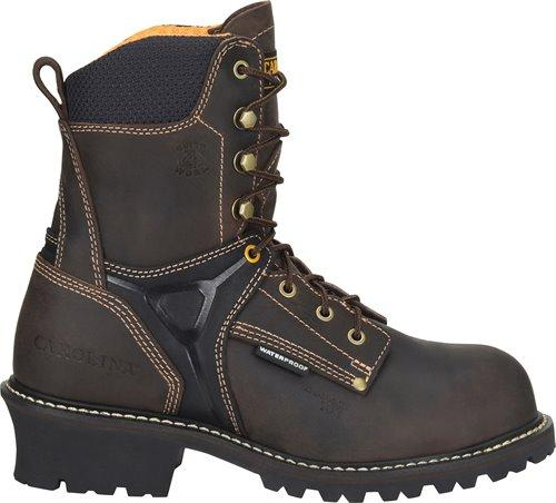 "Carolina Men's - 8"" Timber Logger Walnut - Composite toe boots CAROLINA SHOE COMPANY"