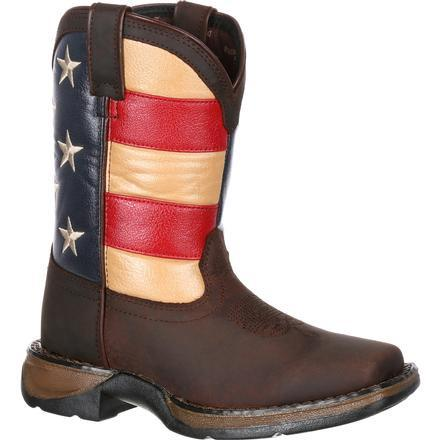 Durango Little Kids - Union Flag Western Boot - Square toe boots DURANGO BOOT