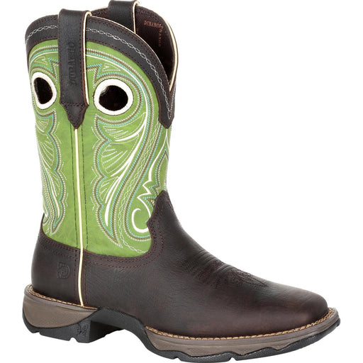 "Durango Women's - 10"" Lady Rebel Lime - Square toe boots DURANGO BOOT"