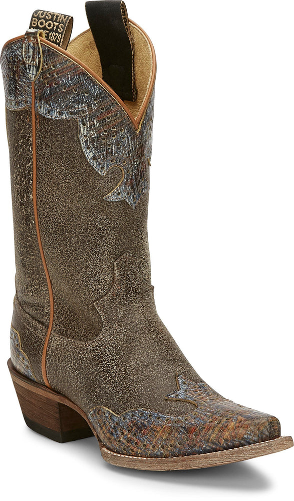 "Justin Women's - 11"" Vera Cafe - Snip Toe boots JUSTIN BOOT CO."