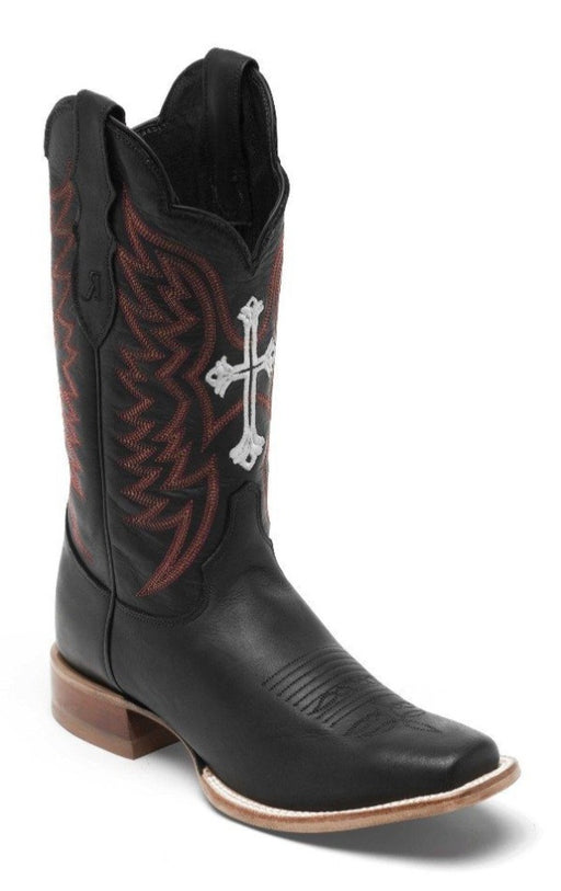 Reba by Justin™ Women's Black Navito - Wide Square Toe boots JUSTIN REBA COLLECTION