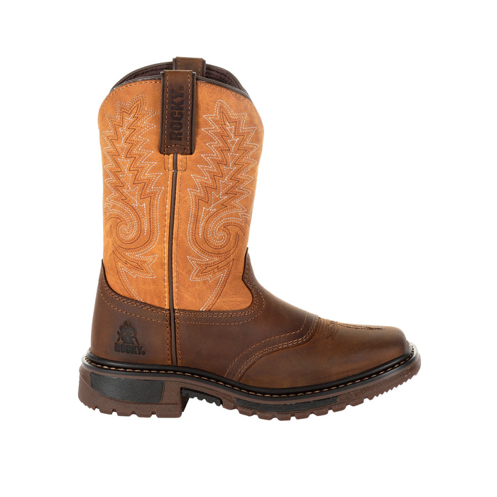 Rocky Big Kid's - Ride FLX Brown/Orange boots ROCKY SHOES & BOOTS INC