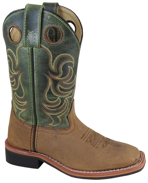 Smoky Mountain Big Kids - Green Crackle Jesse - Square Toe boots SMOKY MOUNTAIN BOOTS