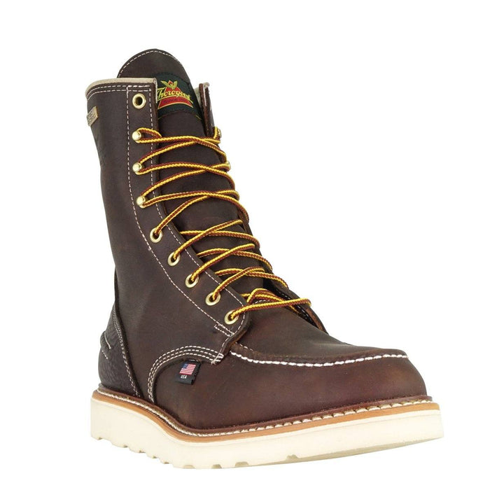 "Thorogood Men's - 1957 Series Briar Pitstop 8"" Waterproof Moc - Steel toe boots WEINBRENNER SHOE CO. INC"