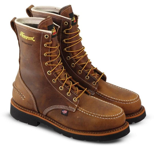 "Thorogood Men's - 1957 Series Crazyhorse 8"" Waterproof Moc - Steel toe boots WEINBRENNER SHOE CO. INC"