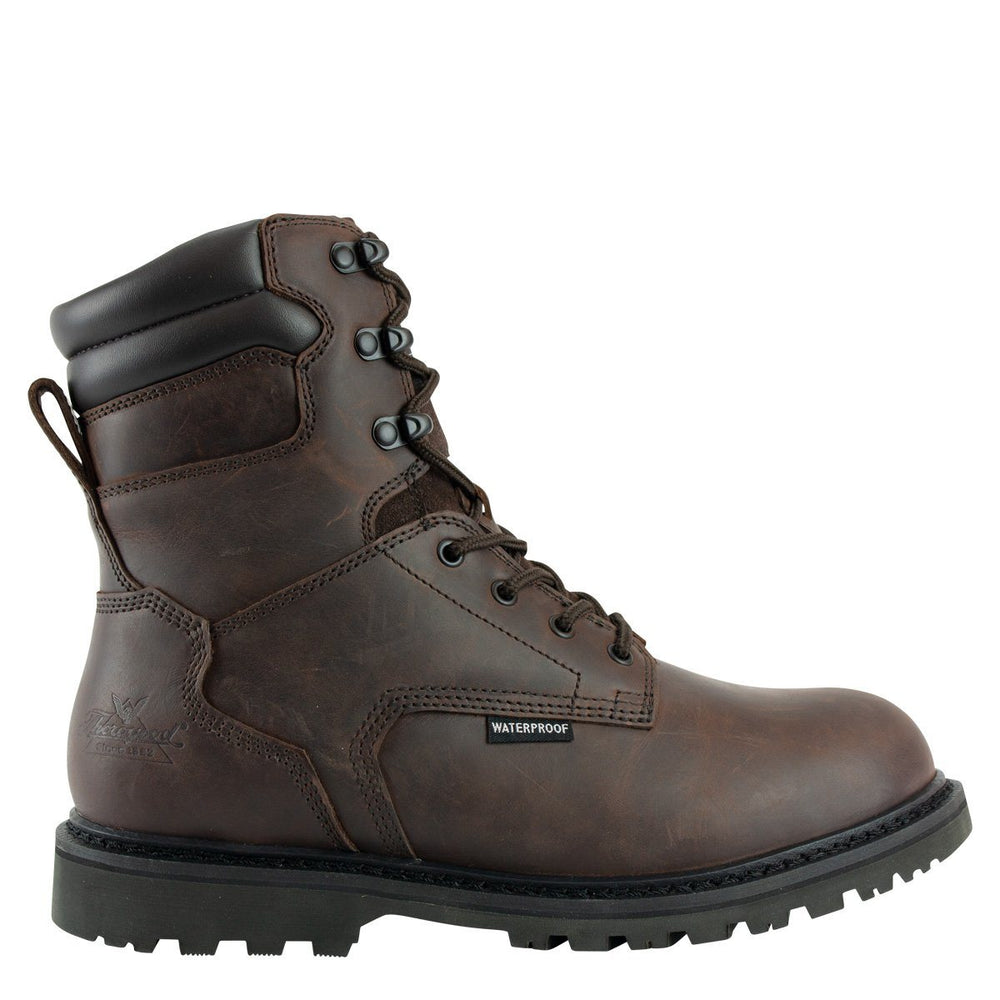 "Thorogood Men's - V-Series 8"" Waterproof/Insulated Crazyhorse - Round toe boots WEINBRENNER SHOE CO. INC"