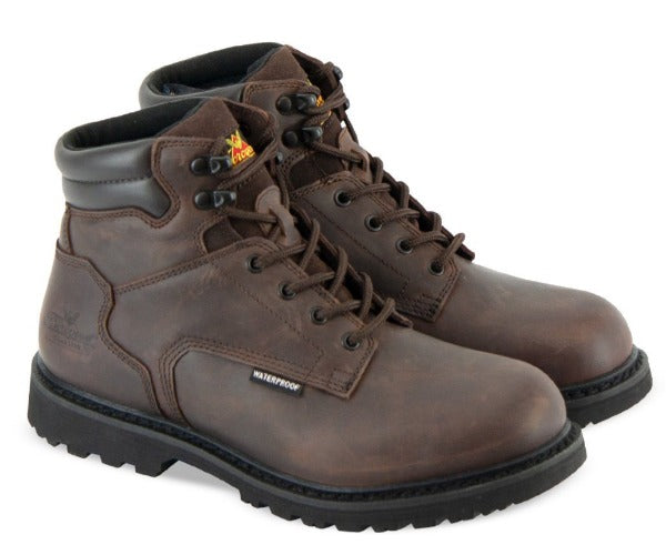 "Thorogood Men's - V-Series Crazyhorse 6"" Waterproof - Round toe boots WEINBRENNER SHOE CO. INC"