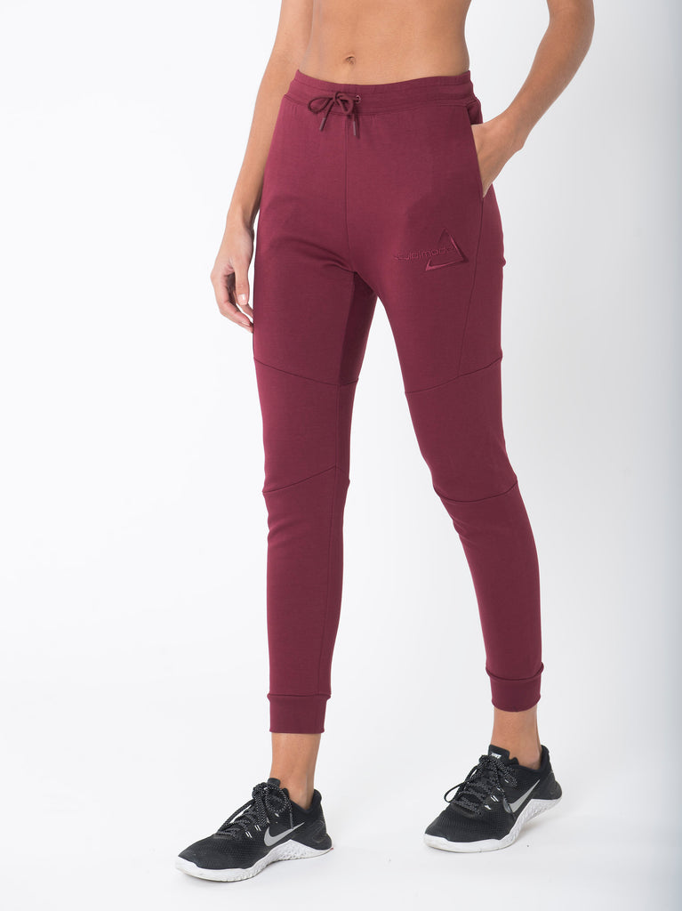 Sculpted Burgundy Joggers