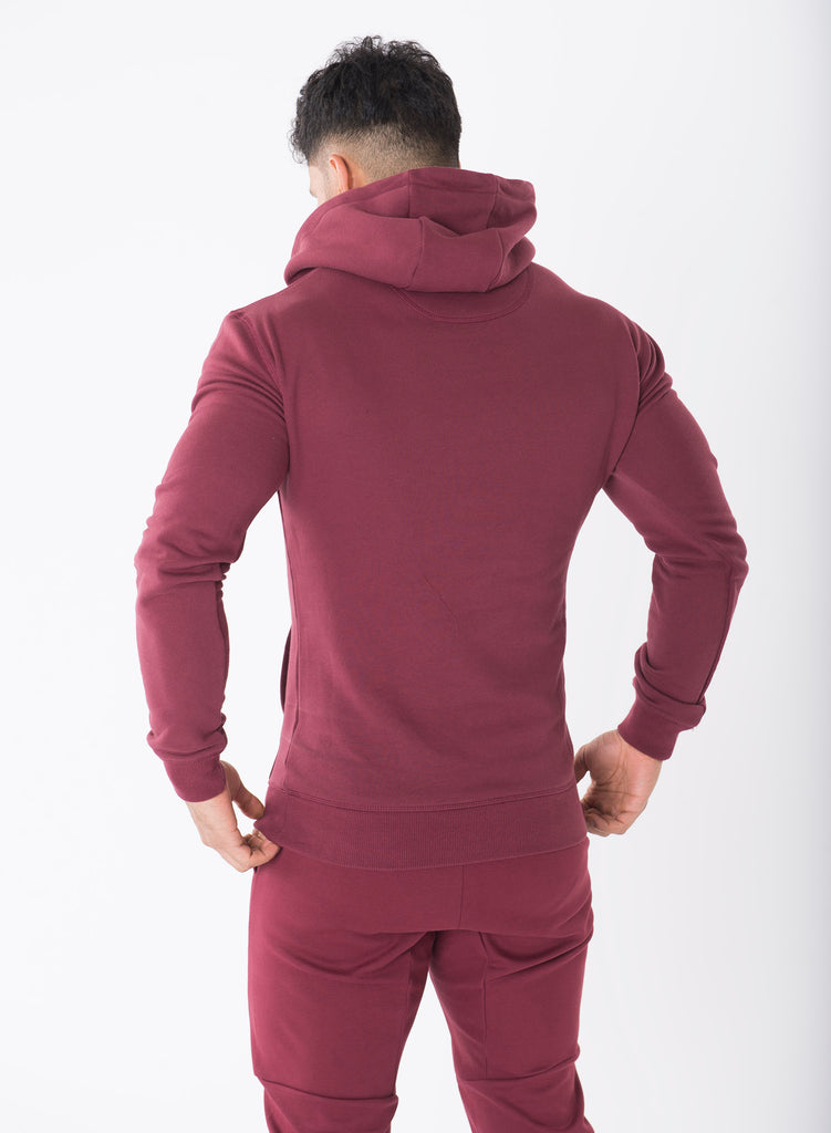 Sculpted Burgundy Pullover
